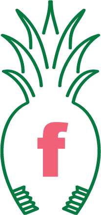 Facebook icon in Green Hills Pediatric Dentistry pineapple logo