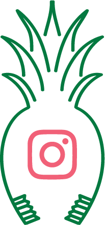 Instagram icon in Green Hills Pediatric Dentistry pineapple logo