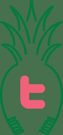 Twitter icon in Green Hills Pediatric Dentistry pineapple logo