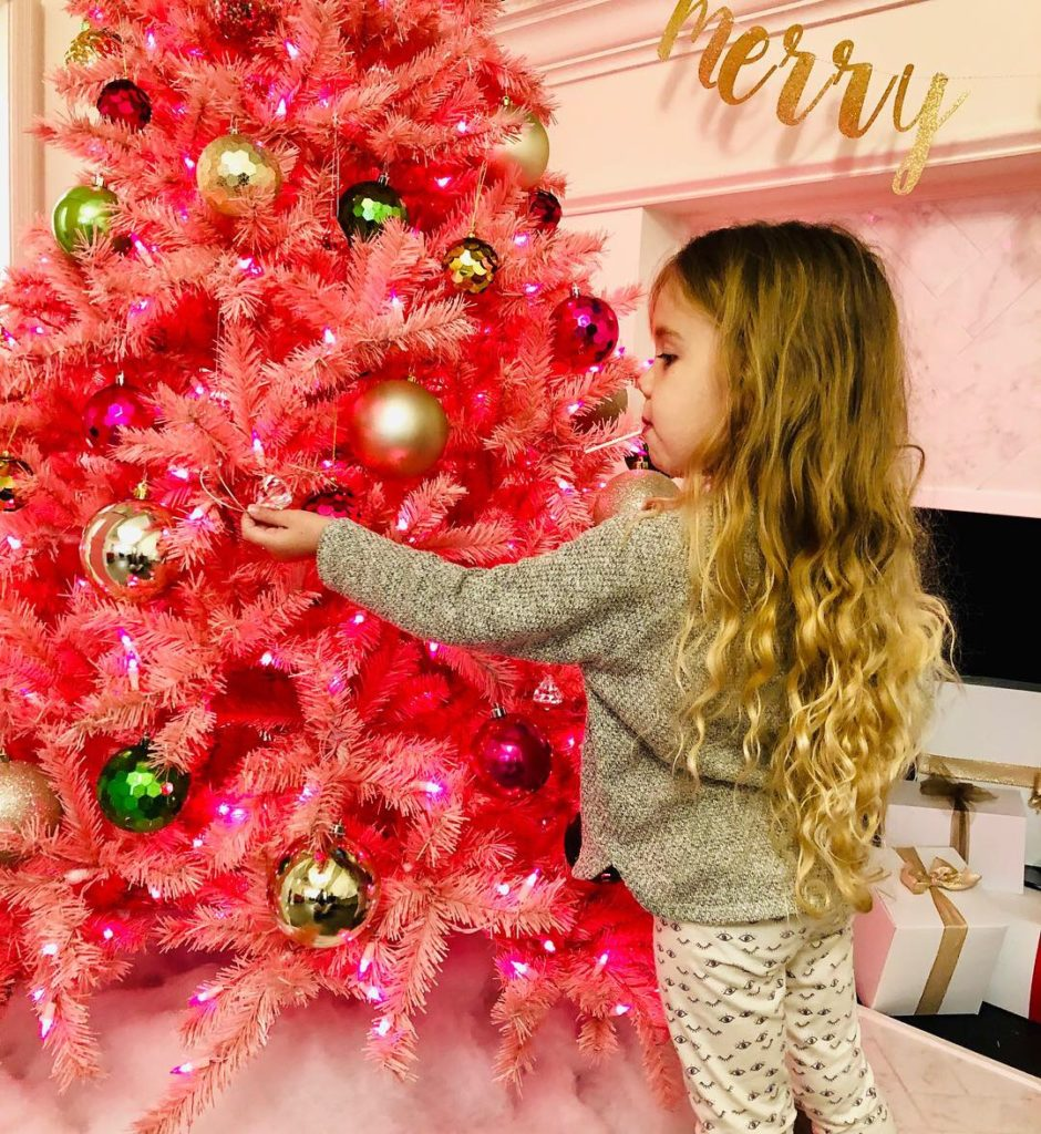 Pink And White Christmas Tree: Green Hills Pediatric Dentistry