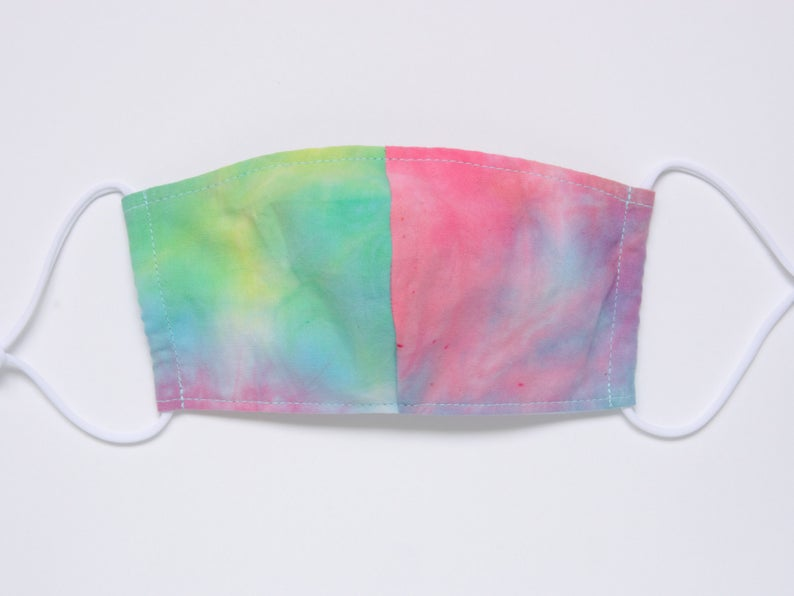 Face Mask Adult Reusable Multi-Color Tie dye Cotton-Ready to image 0